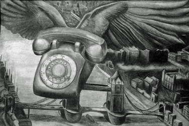 Flying Telephone by Cornmanthe3rd
