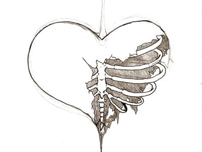 broken heart by EMORAINBOWPUKE on DeviantArt Pencil Drawings Of Broken Hearts