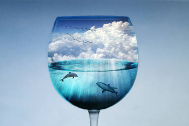 an ocean inside a glass by florin-ella