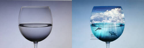 an ocean inside a glass - before and afterg by florin-ella