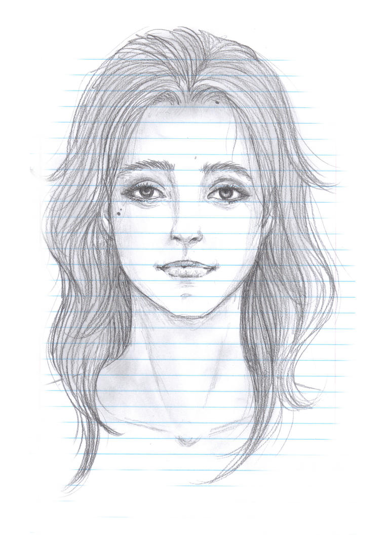how to draw a girl face realistically