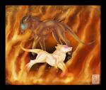 Firedancers by WhiteMantisArt