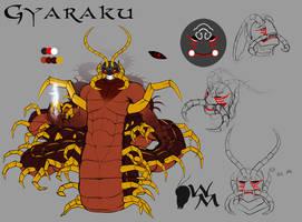 Blade Under Mask: Gyaraku by WhiteMantisArt