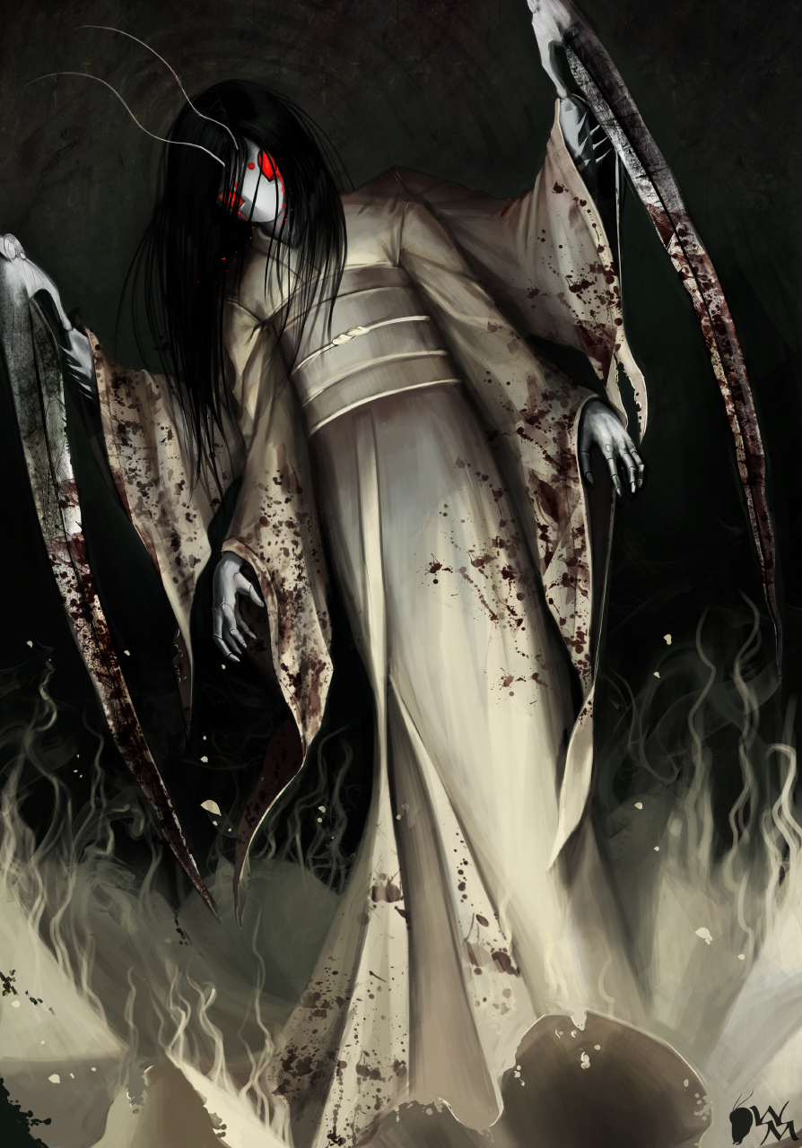 onna by white mantis anthro digital media drawings 2011 2014 white    White Kimono Ghost