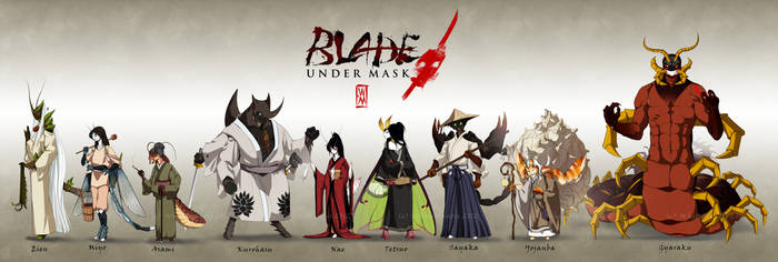 Blade Under Mask: Character Lineup