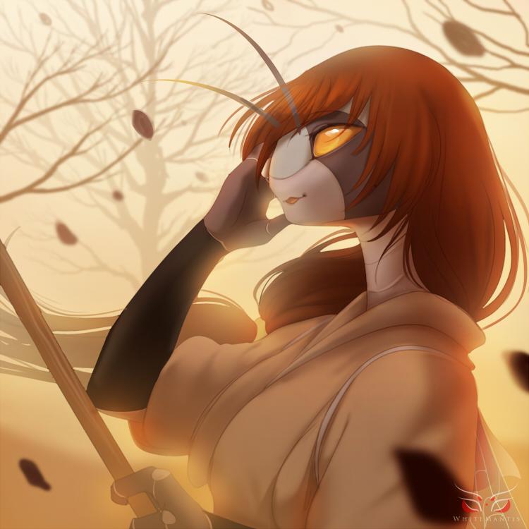 Blade Under Mask Portrait: Miyo by White-Mantis