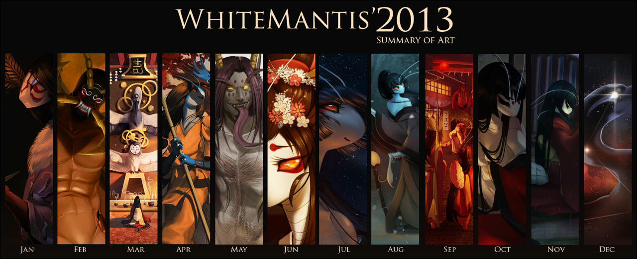 2013 Summary of Art by White-Mantis
