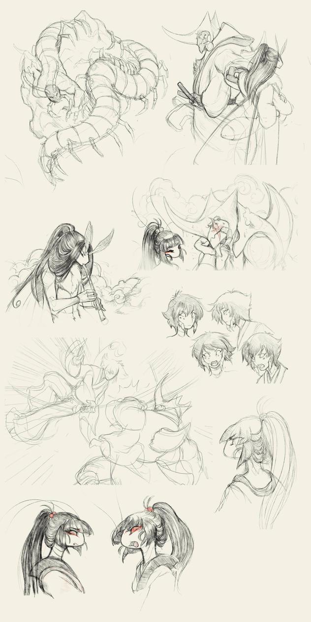 Doodle Dump II by White-Mantis
