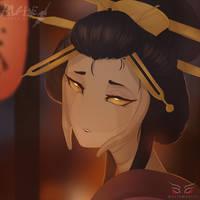 Blade Under Mask Portrait: Horisawa by WhiteMantisArt