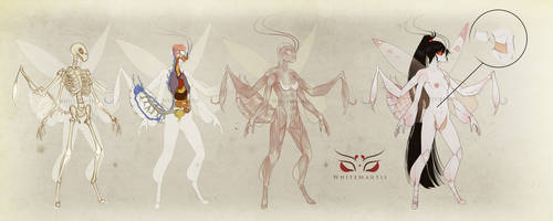 Blade Under Mask: Anatomy of a common Greatlander by WhiteMantisArt