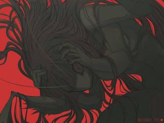 Blade Under Mask: Oomaksai by WhiteMantisArt
