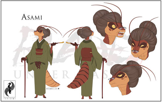 Blade Under Mask: Asami by WhiteMantisArt