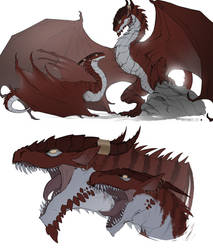 Timeless: Dragon Twins - Dragon Forms by WhiteMantisArt