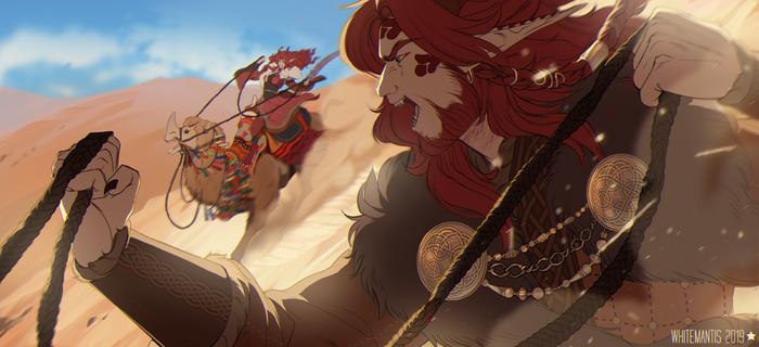 Timeless: Camel Race by WhiteMantisArt
