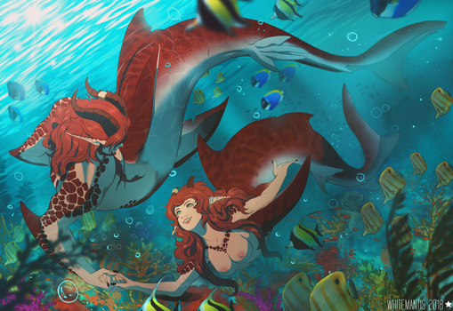 In The Reefs by WhiteMantisArt