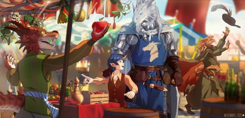Commission: Market Scene
