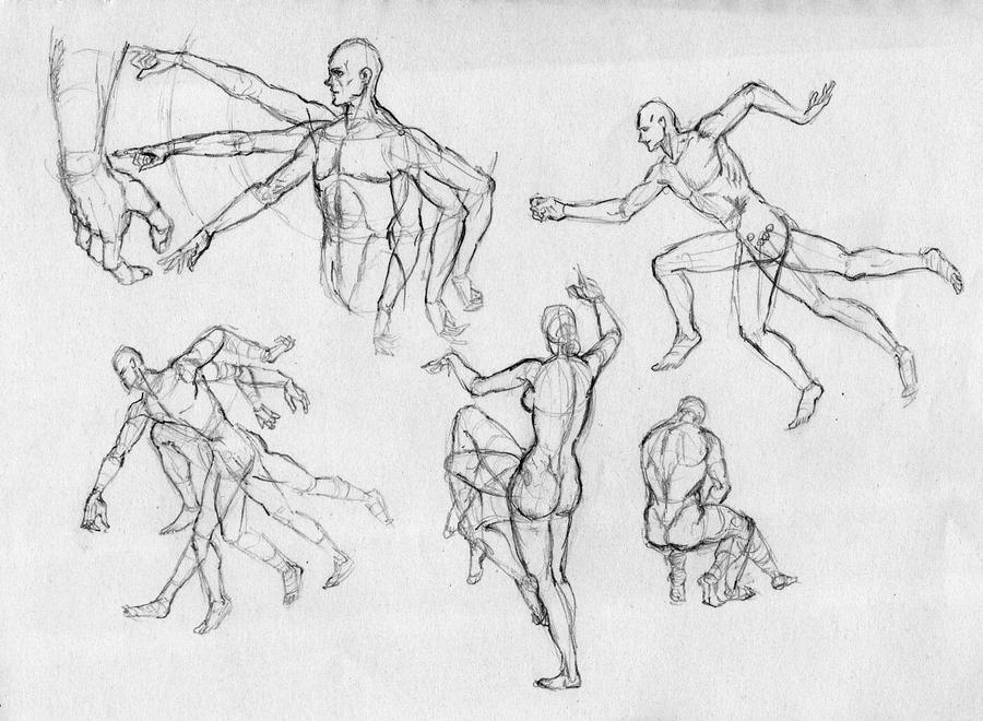 dynamic figure drawing by yusen1013 on DeviantArt