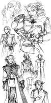 Silas Elven Mage concept art Brush With Magic