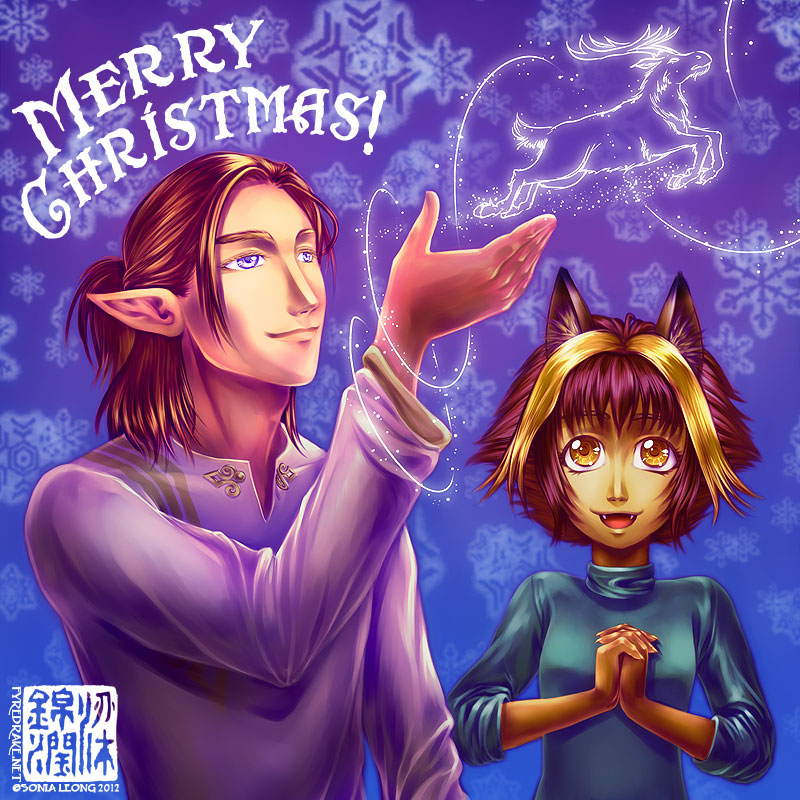 Merry Christmas 2012 from Silas and Rua by sonialeong