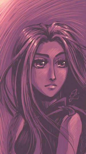 Violet Princess - mobile phone sketch