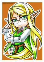 Elven Scholar coloured markers by sonialeong