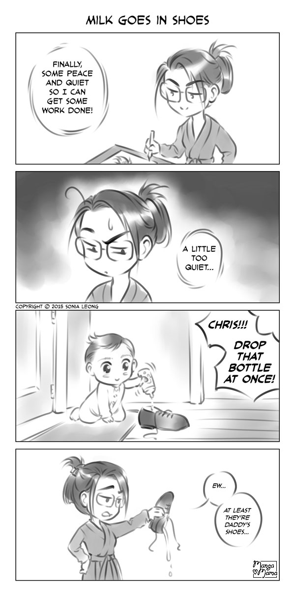 Manga Mama: Milk Goes in Shoes by sonialeong
