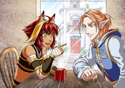 Wanna Bet? Rua and Silas from A Brush With Magic
