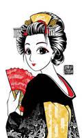 Maiko Apprentice Geisha by sonialeong