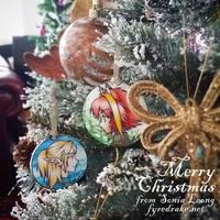 Manga Christmas decorations by sonialeong