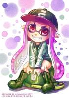 Splatoon 2 Inkling Girl Kamiko by sonialeong