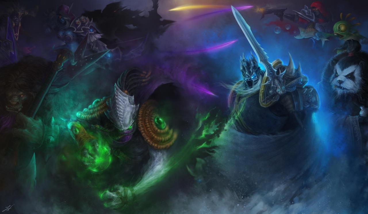 Team Fight in the dark by Taonavi