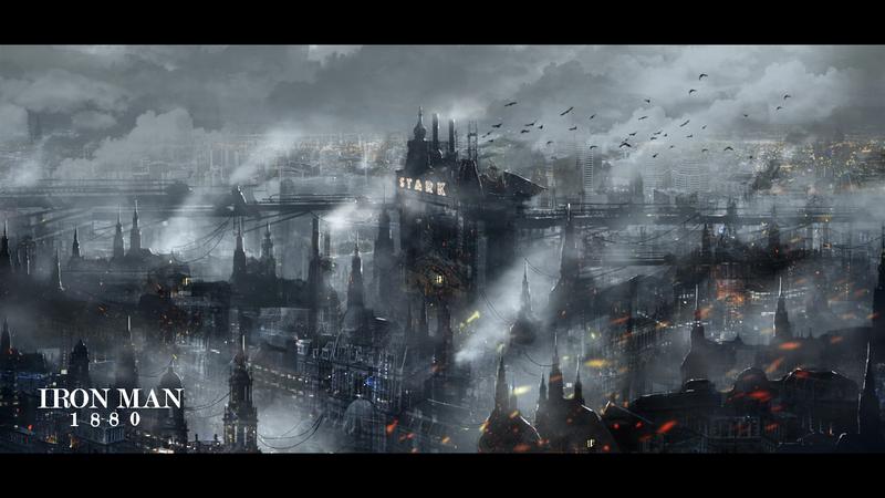 Steampunk Stark Tower by Hachiimon