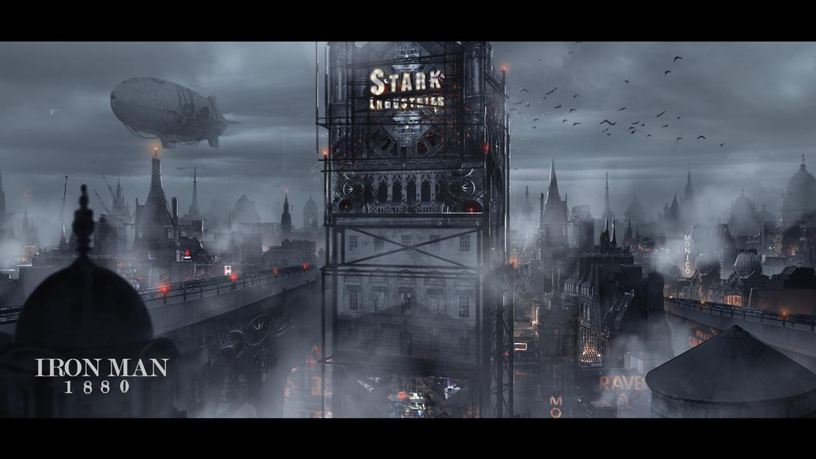 Steampunk Stark Tower 2 by Hachiimon