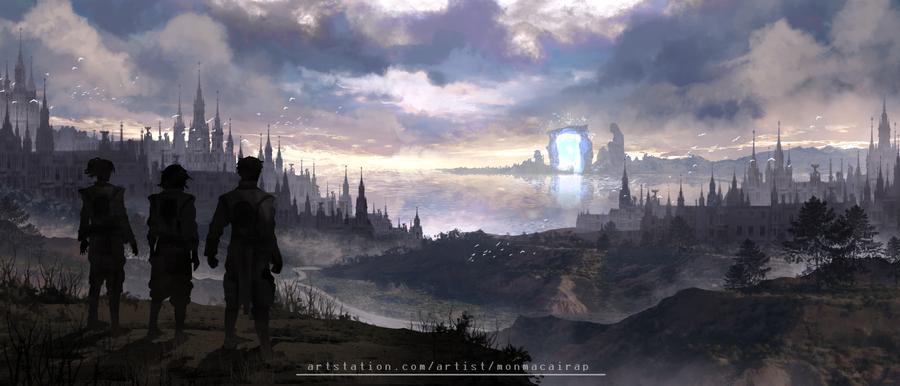 Desolation of a Fallen Society by Hachiimon