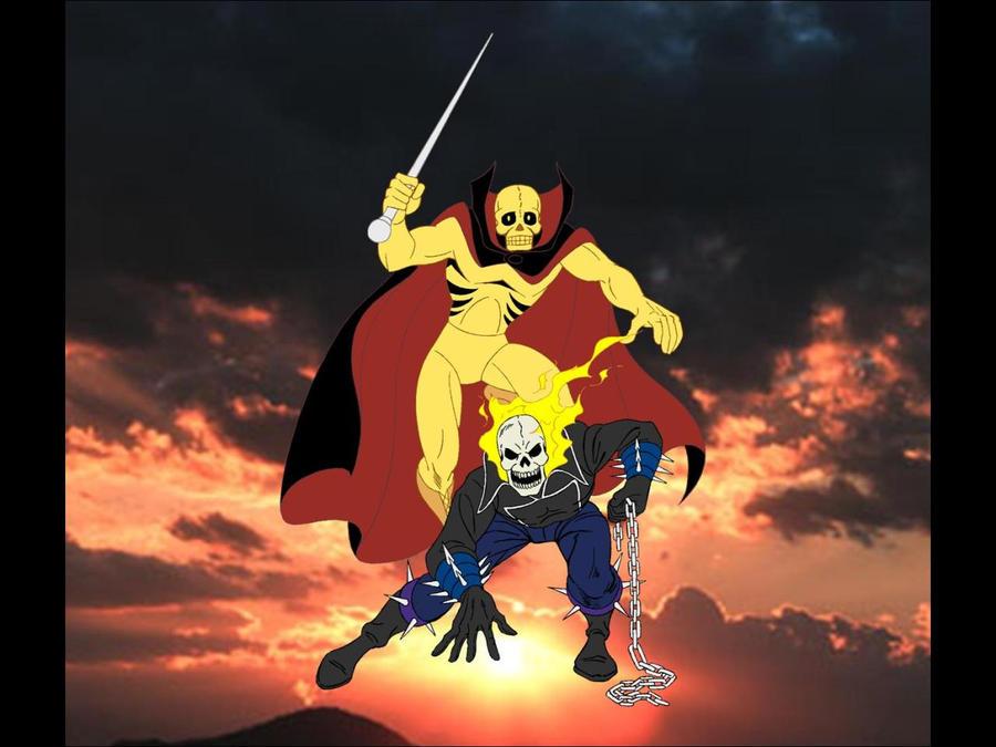 Ghost rider vs fantaman by fagian on deviantart
