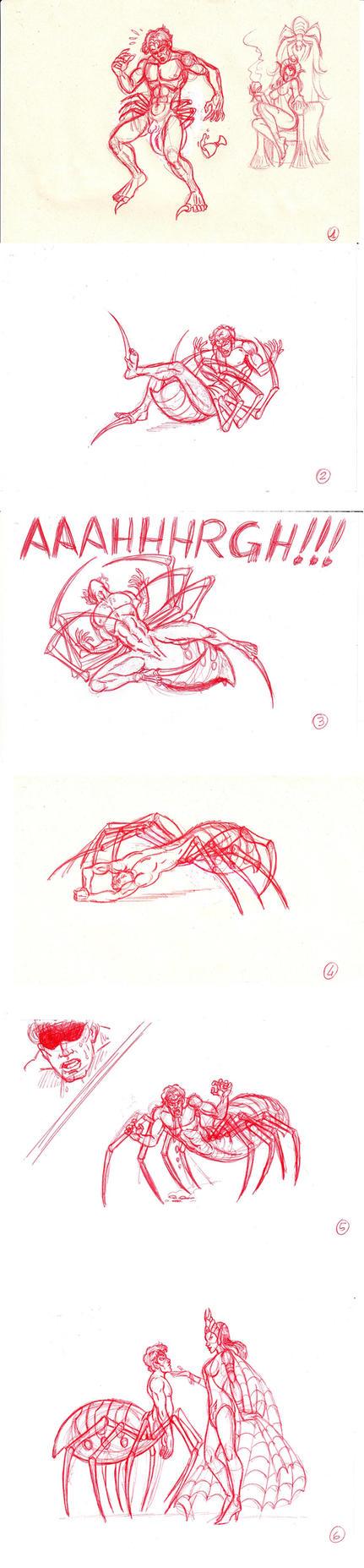 Spider-centaur sequenza di trasformazione by FaGian