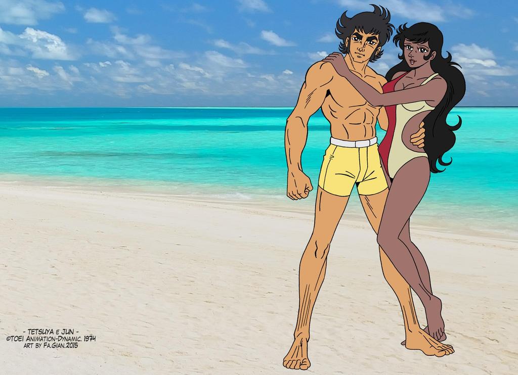 Tetsuya e Jun - beach time by FaGian