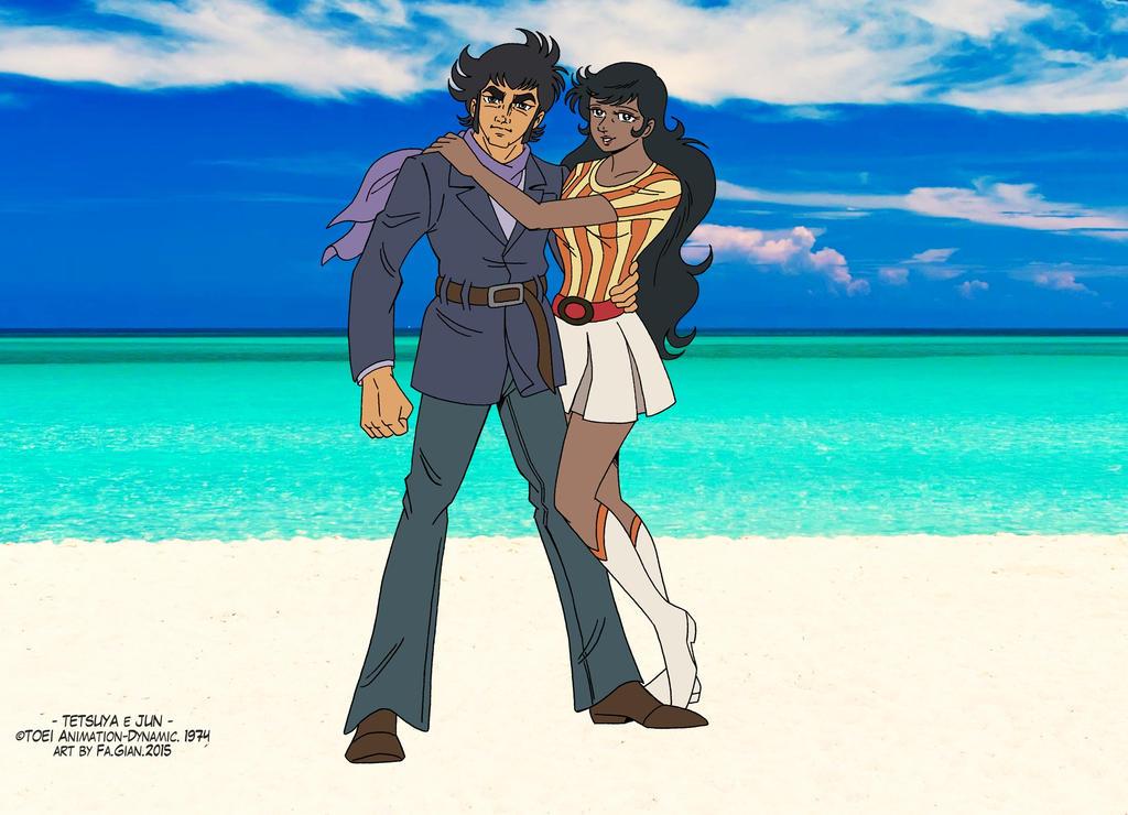 Tetsuya e Jun - beach time 2 by FaGian