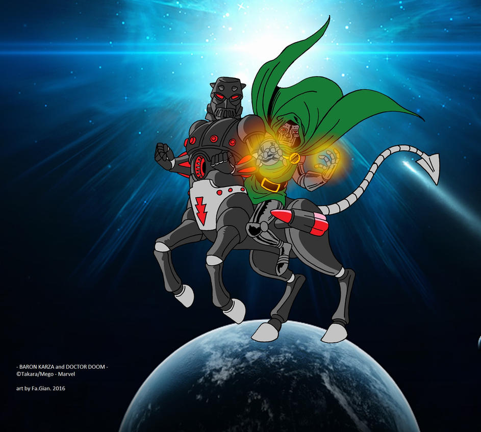 Baron Karza and Doctor Doom by FaGian