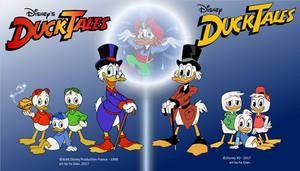 DuckTales - 1990 Vs 2017 by FaGian