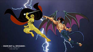 Ogon Bat vs Devilman WP