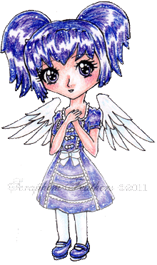 GothLoli Angel Chibi by SeraphimFeathers