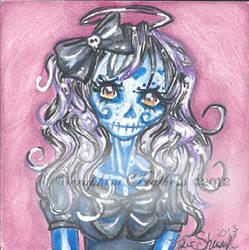 Cutie Blue Sugar Skull