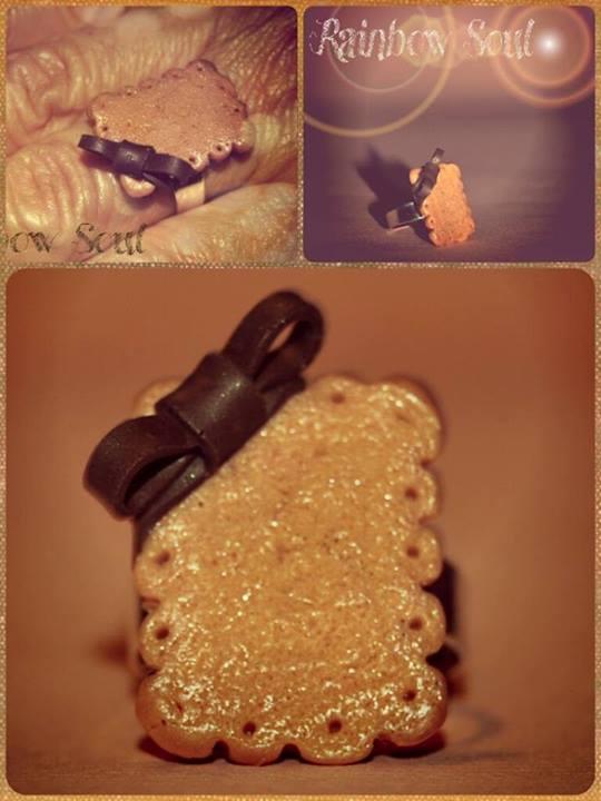 anello biscottino con fiocco by rainbowsoulFIMO