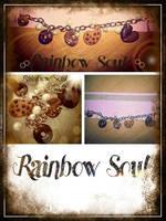 bracciale con biscotti e perle by rainbowsoulFIMO