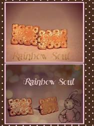 orecchini a lobo biscotini brillanti by rainbowsoulFIMO