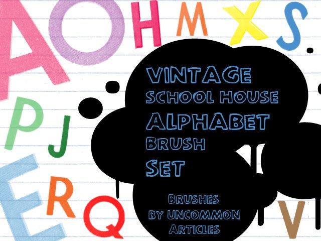 Vintage School House Alphabet by UncommonARTicles