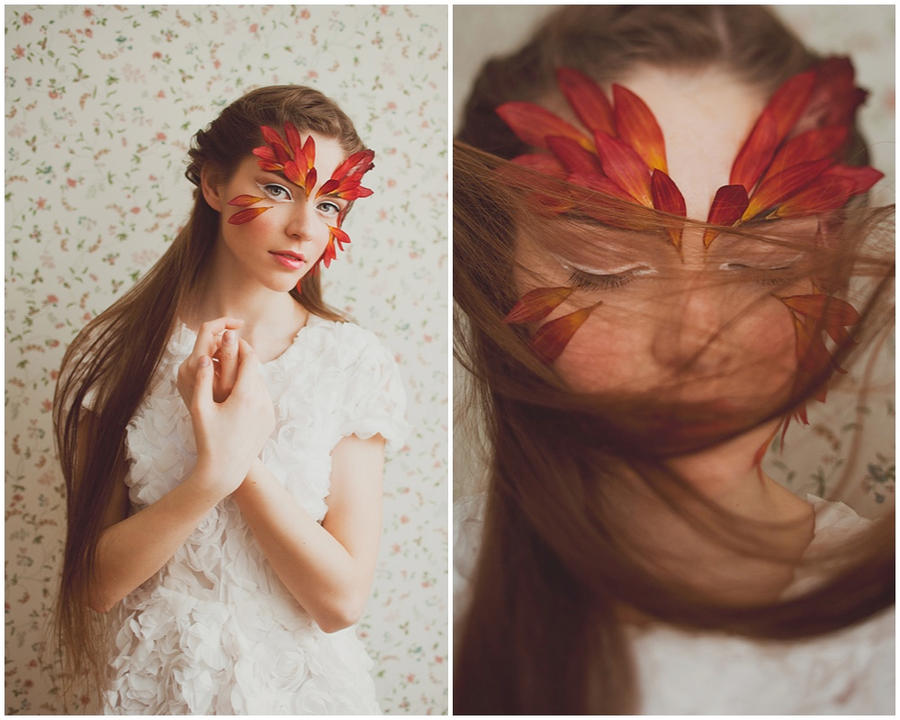 Flower bird by Lileinaya