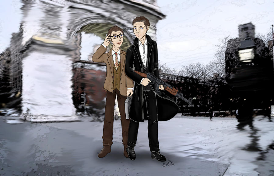 Reese and Finch from Person of Interest Wallpaper