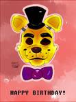Happy Birthday from Golden Freddy!